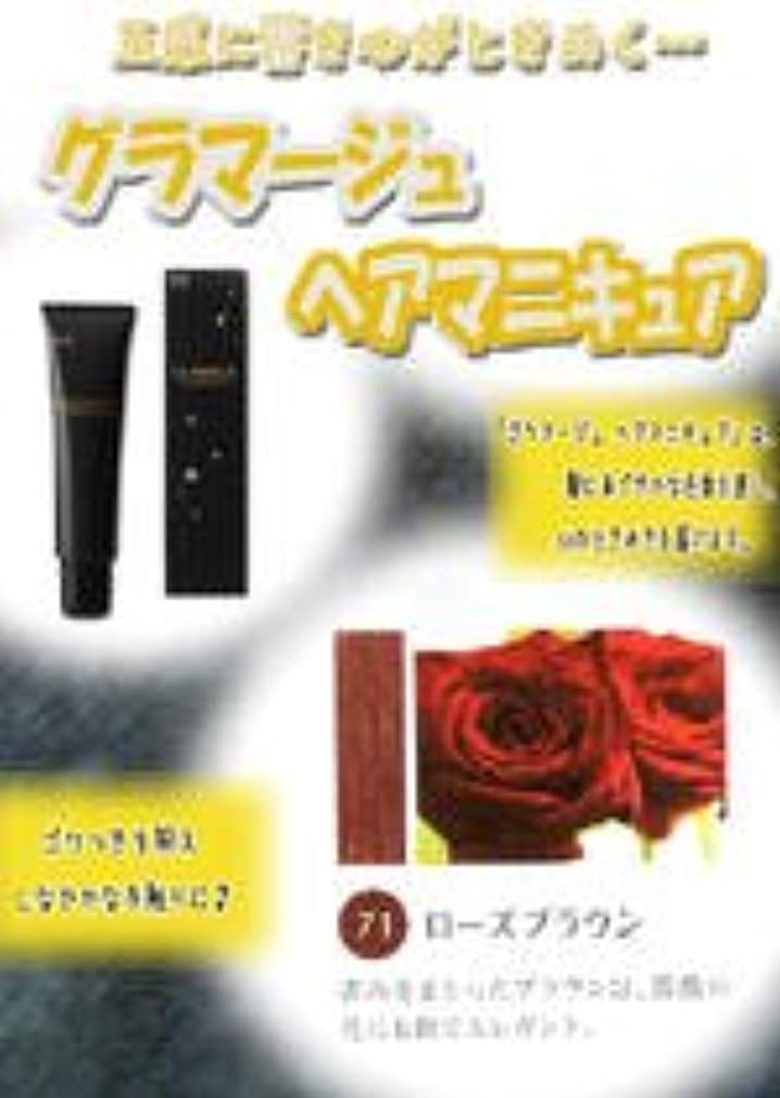 咽頭リーガン夢HOYU ホーユー グラマージュ ヘアマニキュア 71 ローズブラウン 150g 【ブラウン系】