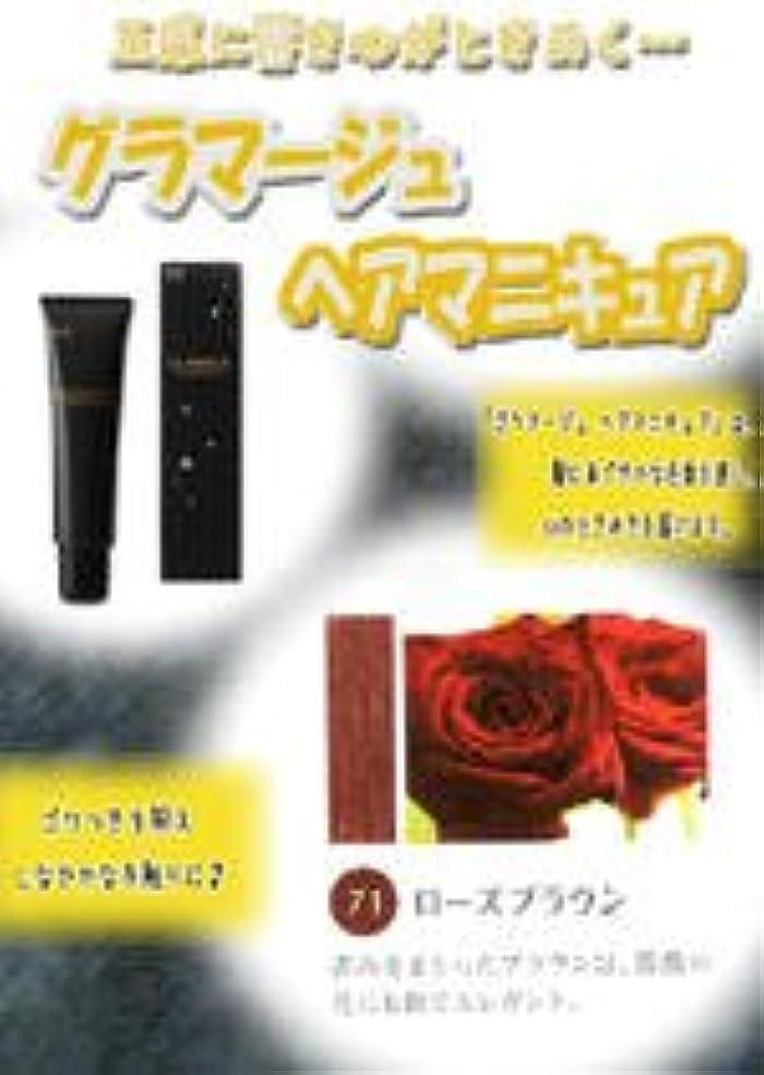 入口からかう梨HOYU ホーユー グラマージュ ヘアマニキュア 71 ローズブラウン 150g 【ブラウン系】