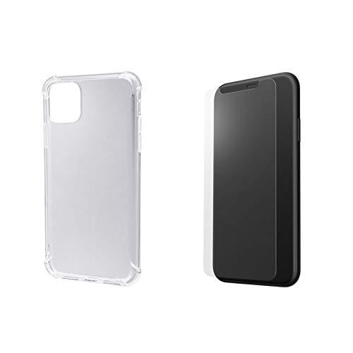 【返金保証付き】2019 iPhone 11 XI Pro Max 6.5インチモデル対応 TPUクリアケース カバー 液晶保護ガラス セット