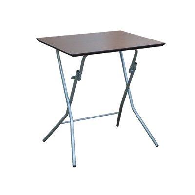 スクエアスタンドタッチ テーブル ブラウン×シルバーレッグ
