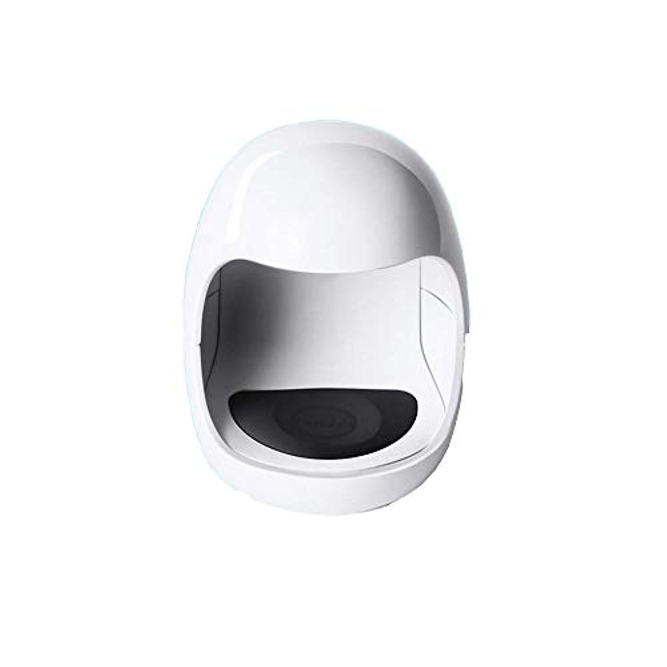 アピールクラウン砦YESONEEP ミニ光線療法機ミニシングルフィンガーネイルライトセラピーライトUSB日光LED速乾性ネイルオイルグルーベーキングランプ (色 : White)