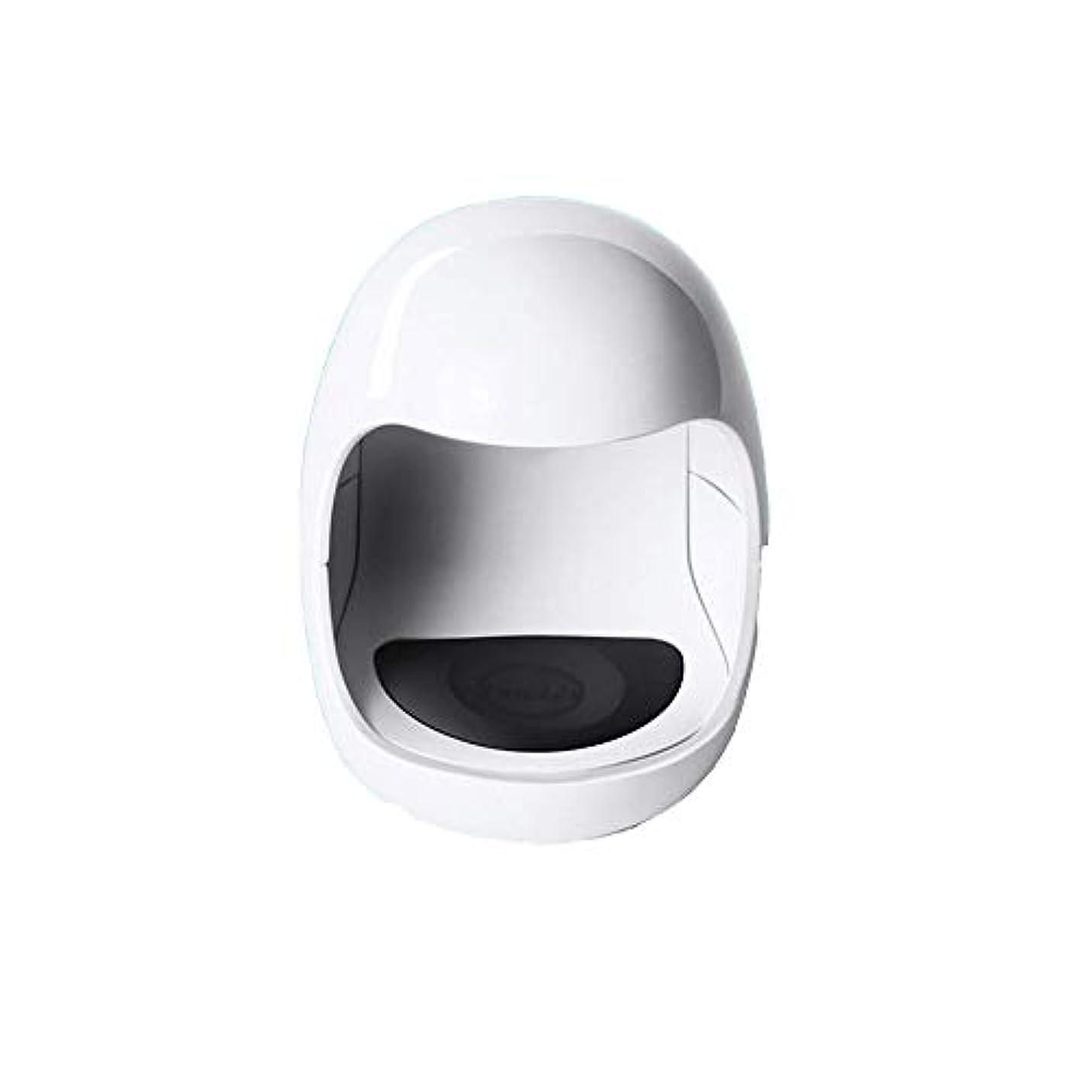 予報精算傾斜YESONEEP ミニ光線療法機ミニシングルフィンガーネイルライトセラピーライトUSB日光LED速乾性ネイルオイルグルーベーキングランプ (色 : White)