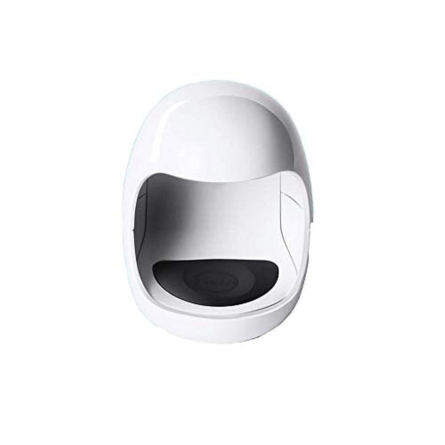 経済暴力台風YESONEEP ミニ光線療法機ミニシングルフィンガーネイルライトセラピーライトUSB日光LED速乾性ネイルオイルグルーベーキングランプ (色 : White)