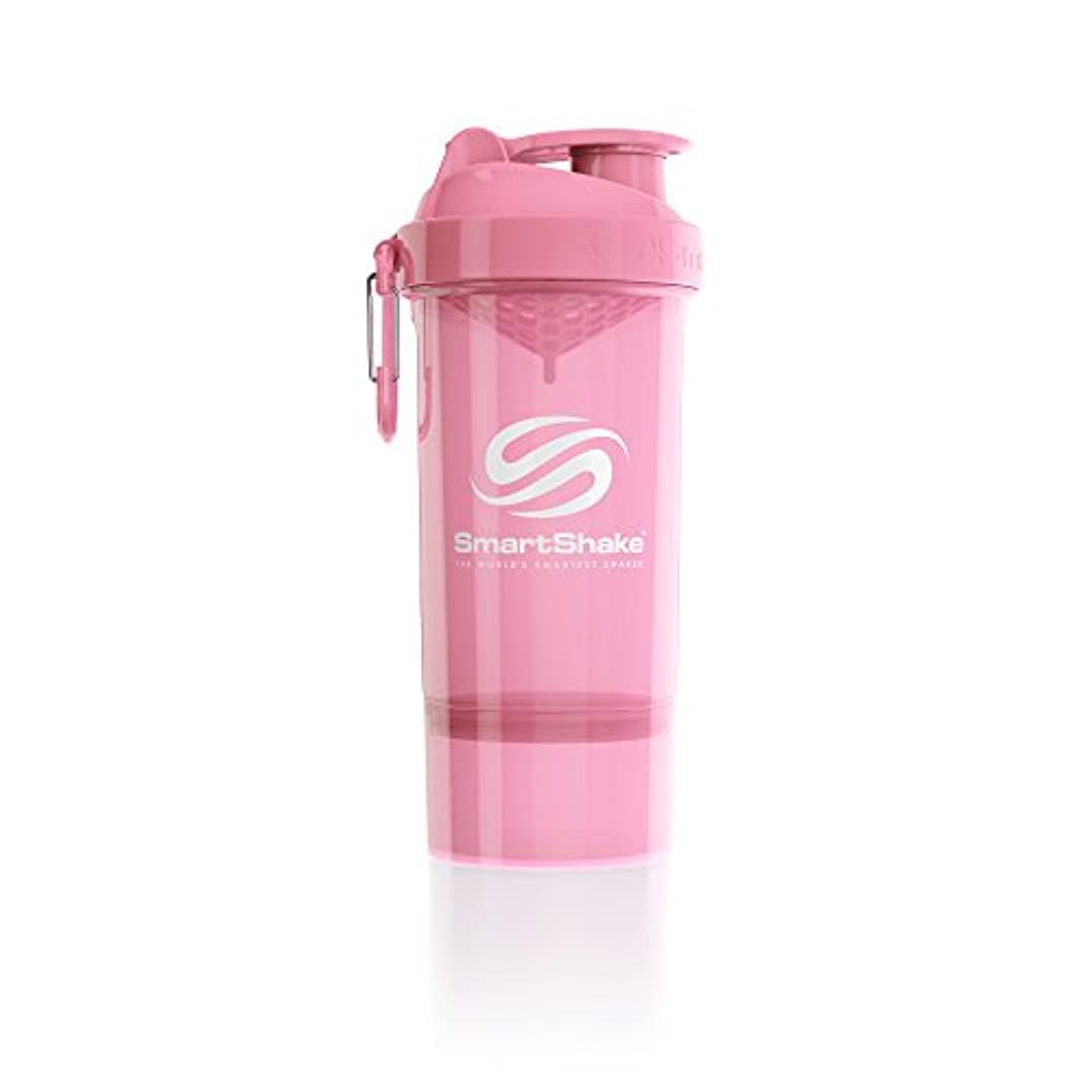 体現する安定した消費SmartShake(スマートシェイク) SmartShake ORIGINAL2GO ONE 800ml Light Pink 多機能プロテインシェイカー ライトピンク 800ml大容量 コンテナ1段タイプ
