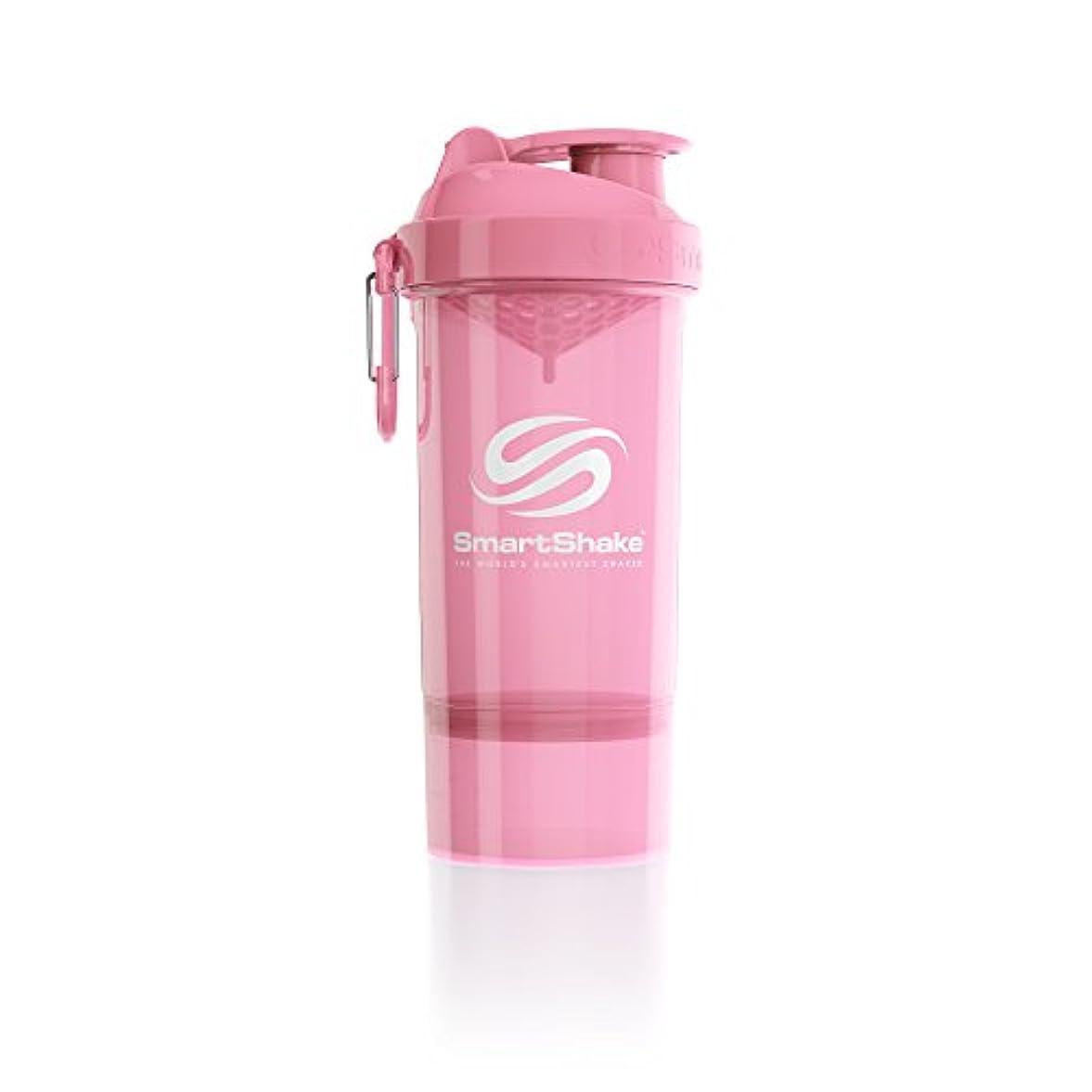 キャンバス提供する消毒剤SmartShake(スマートシェイク) SmartShake ORIGINAL2GO ONE 800ml Light Pink 多機能プロテインシェイカー ライトピンク 800ml大容量 コンテナ1段タイプ