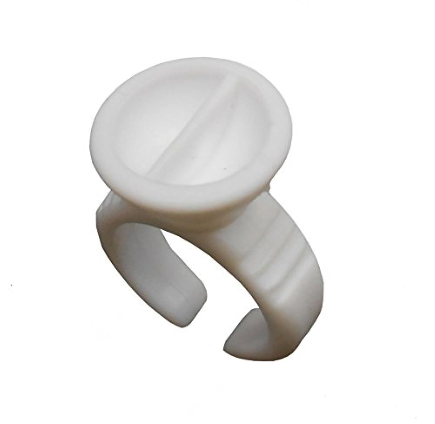 分オーケストラ変更可能まつげエクステ リング まつ毛エクステ 使い捨て アイラッシュ グルーリング プラスチック製 Eyelash Extension Glue Ring   100個入り gring_a_100