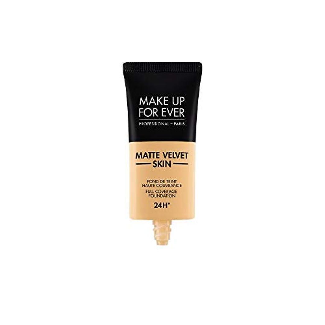 姿を消す意味のある交換メイクアップフォーエバー Matte Velvet Skin Full Coverage Foundation - # Y245 (Soft Sand) 30ml/1oz並行輸入品