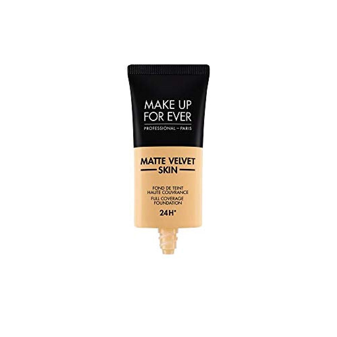歴史ご注意泣き叫ぶメイクアップフォーエバー Matte Velvet Skin Full Coverage Foundation - # Y245 (Soft Sand) 30ml/1oz並行輸入品