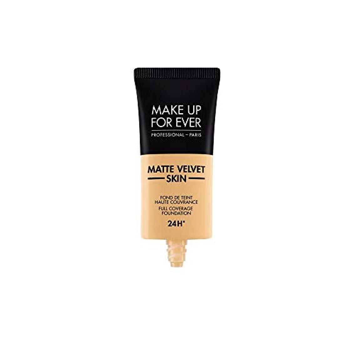 専門恥ばかげているメイクアップフォーエバー Matte Velvet Skin Full Coverage Foundation - # Y245 (Soft Sand) 30ml/1oz並行輸入品