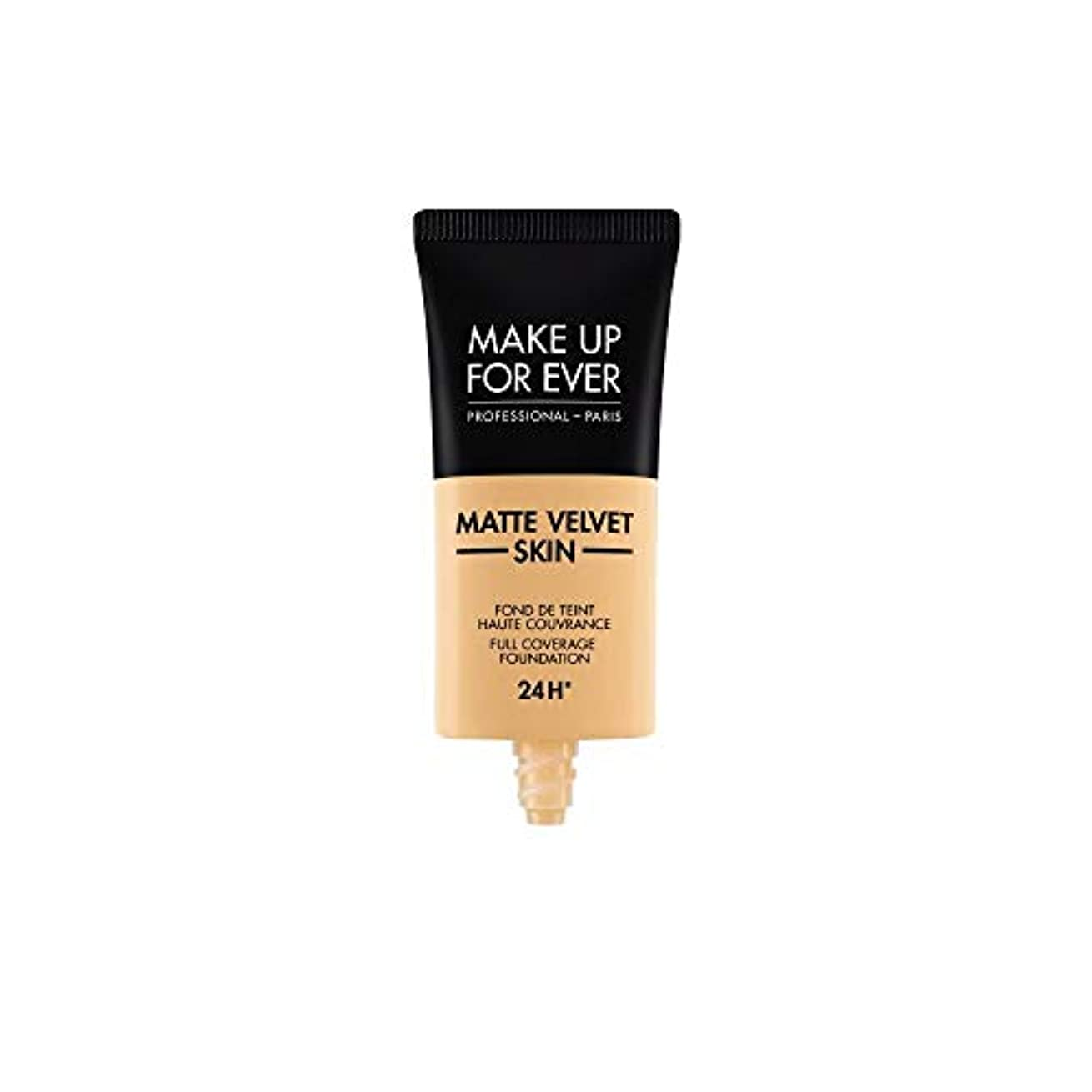 ドット尊敬する階下メイクアップフォーエバー Matte Velvet Skin Full Coverage Foundation - # Y245 (Soft Sand) 30ml/1oz並行輸入品
