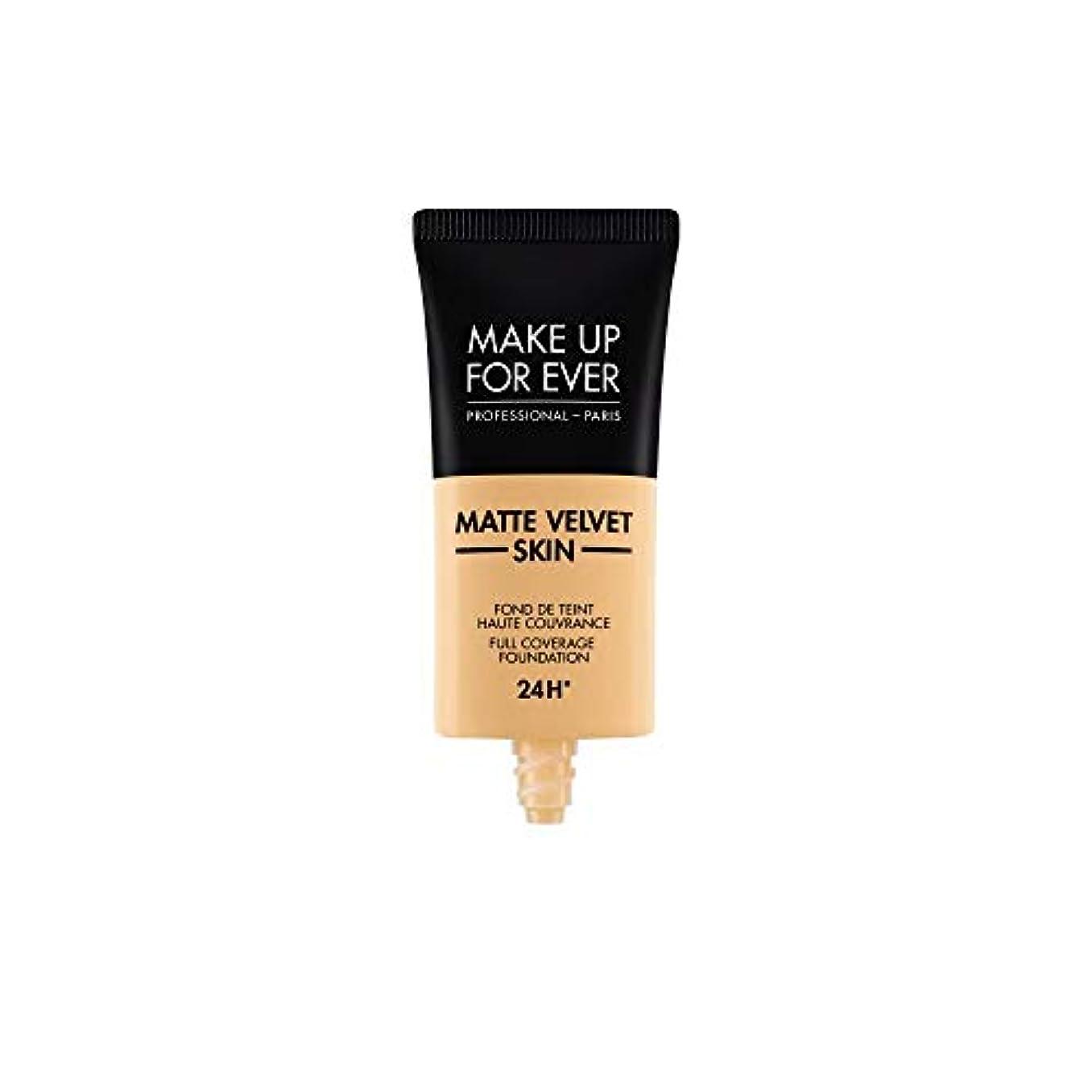 スナップフォロー賭けメイクアップフォーエバー Matte Velvet Skin Full Coverage Foundation - # Y245 (Soft Sand) 30ml/1oz並行輸入品