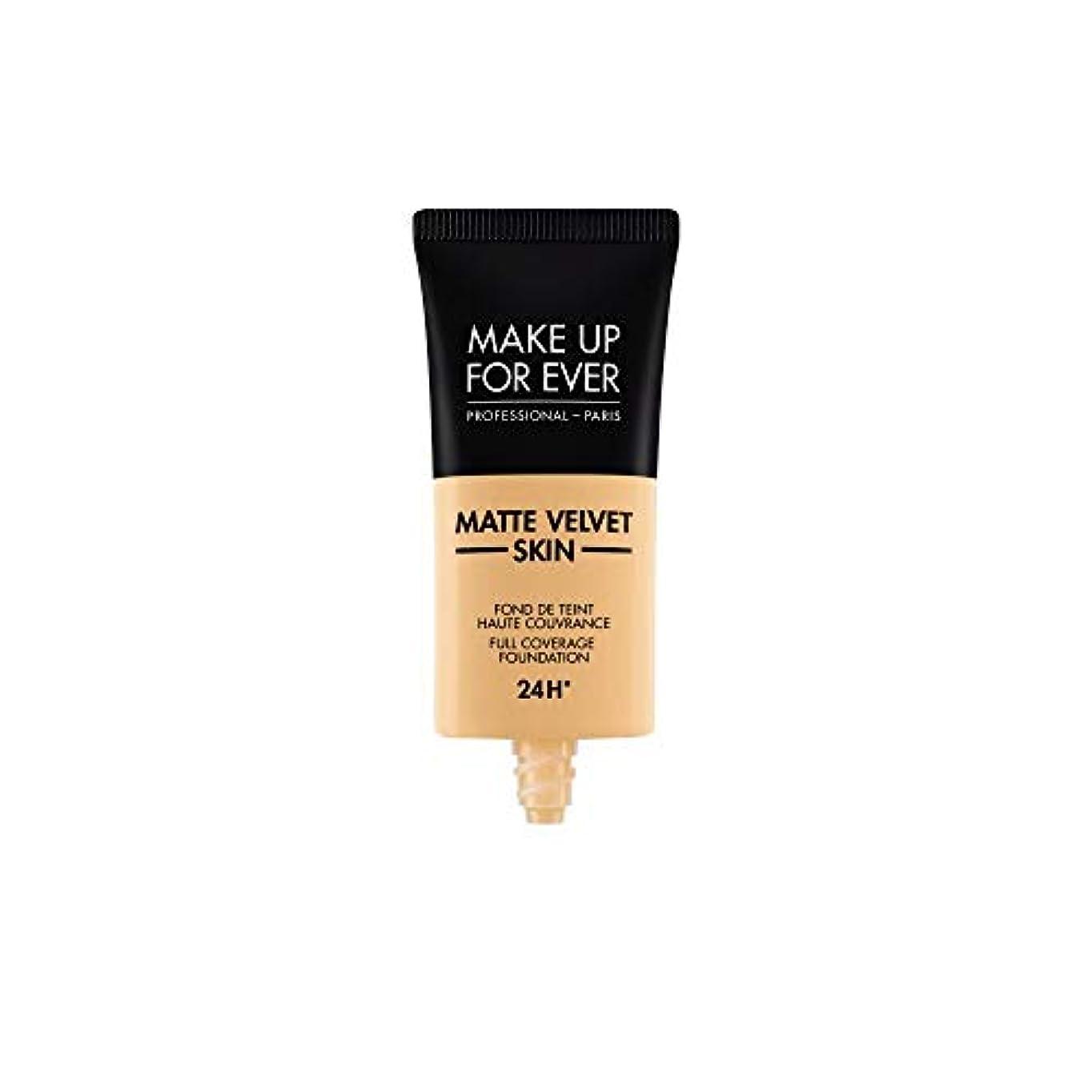 ドック事前単にメイクアップフォーエバー Matte Velvet Skin Full Coverage Foundation - # Y245 (Soft Sand) 30ml/1oz並行輸入品