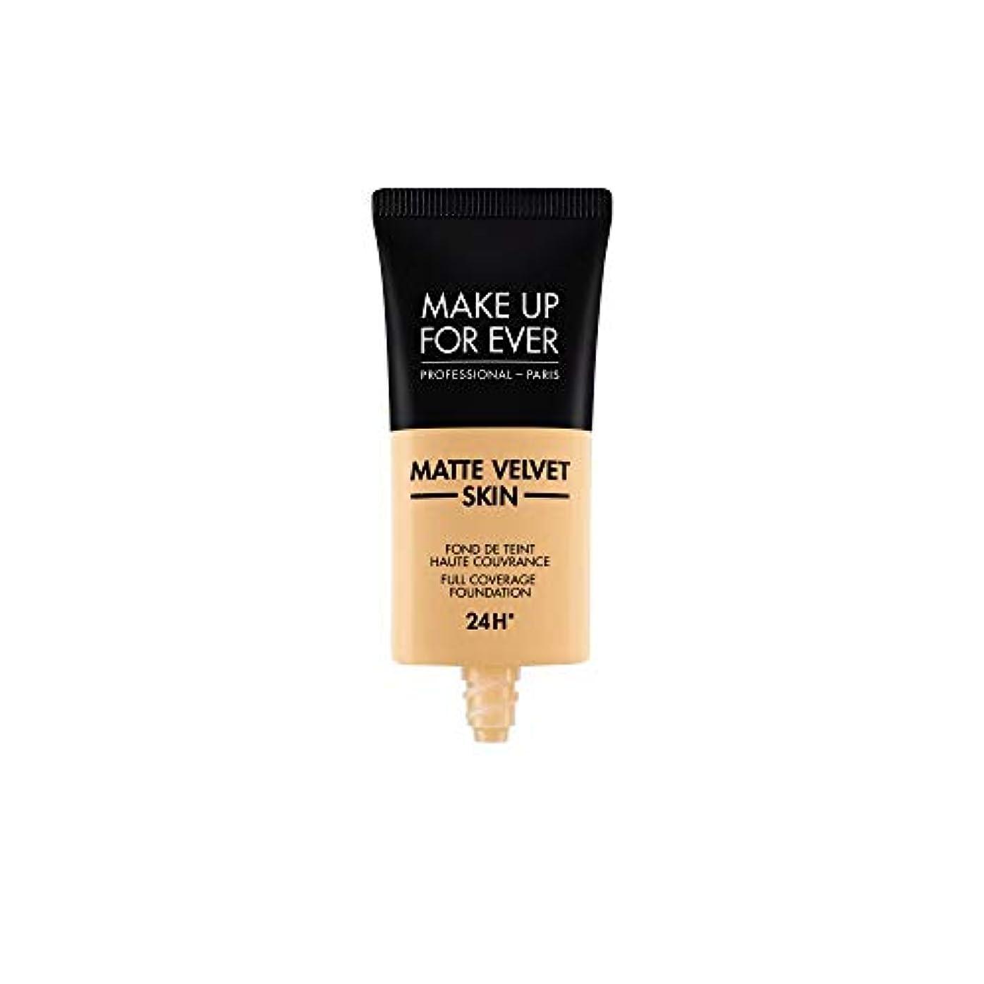 従来の見分けるチームメイクアップフォーエバー Matte Velvet Skin Full Coverage Foundation - # Y245 (Soft Sand) 30ml/1oz並行輸入品