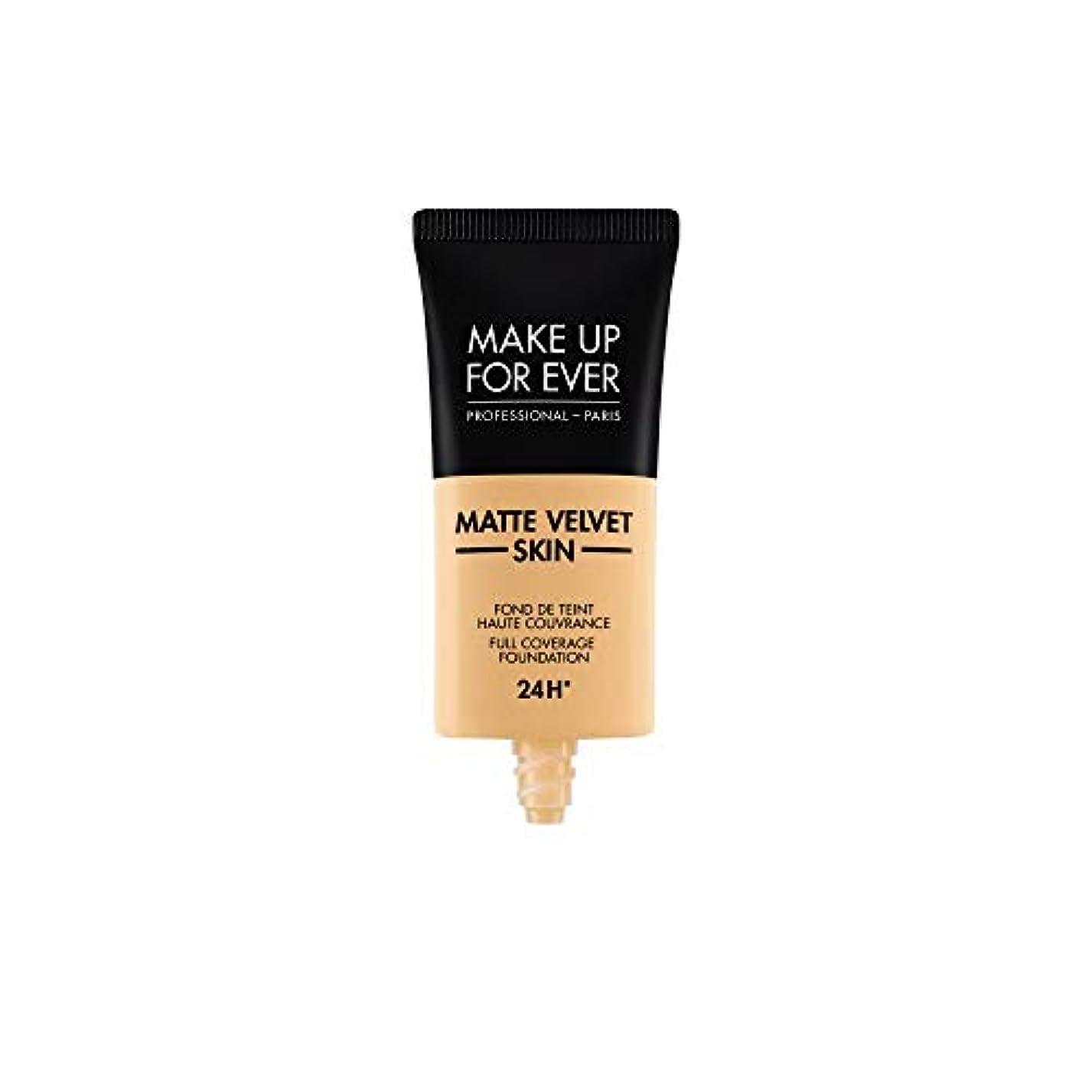 男性青写真批判的にメイクアップフォーエバー Matte Velvet Skin Full Coverage Foundation - # Y245 (Soft Sand) 30ml/1oz並行輸入品