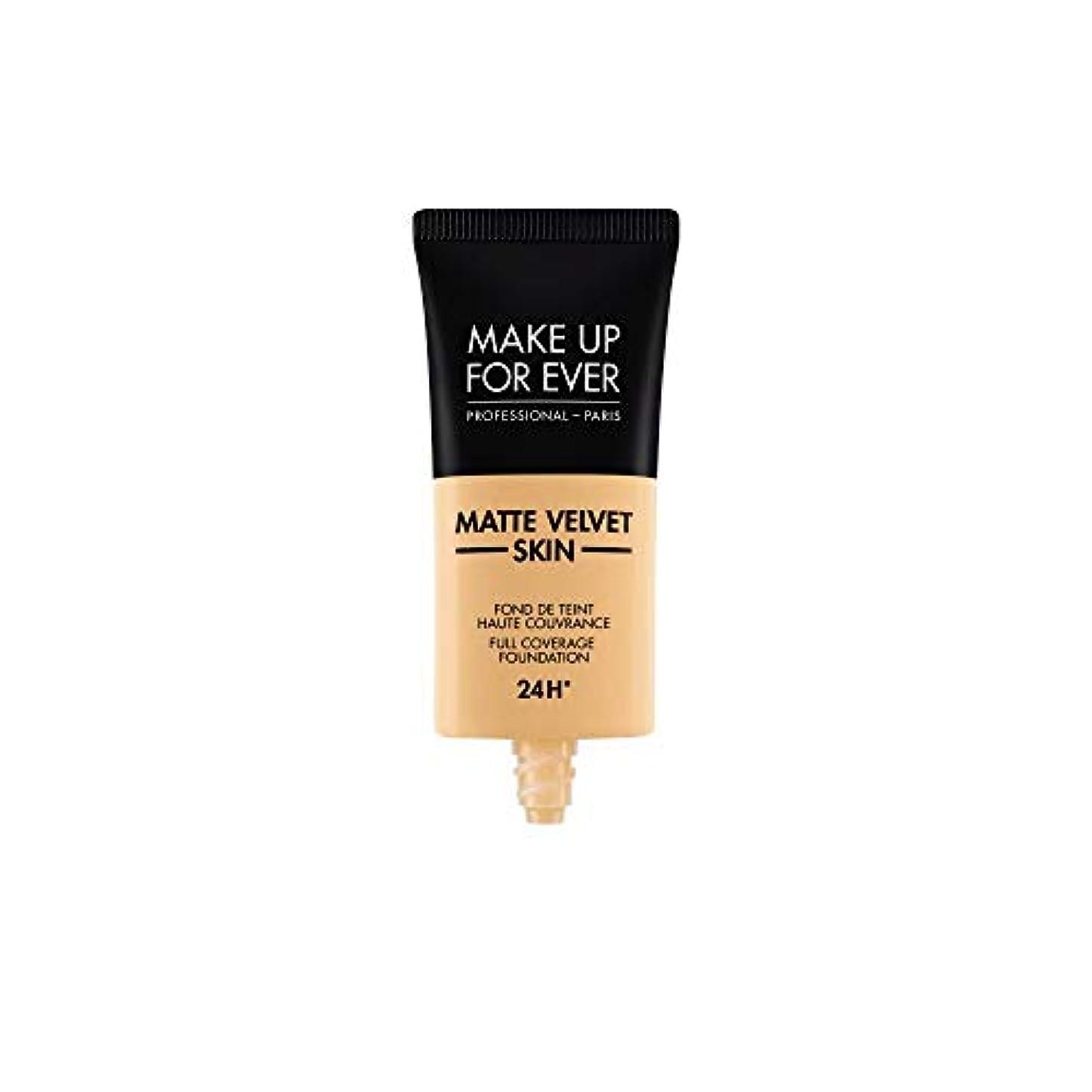 凝縮する抑制廃棄メイクアップフォーエバー Matte Velvet Skin Full Coverage Foundation - # Y245 (Soft Sand) 30ml/1oz並行輸入品