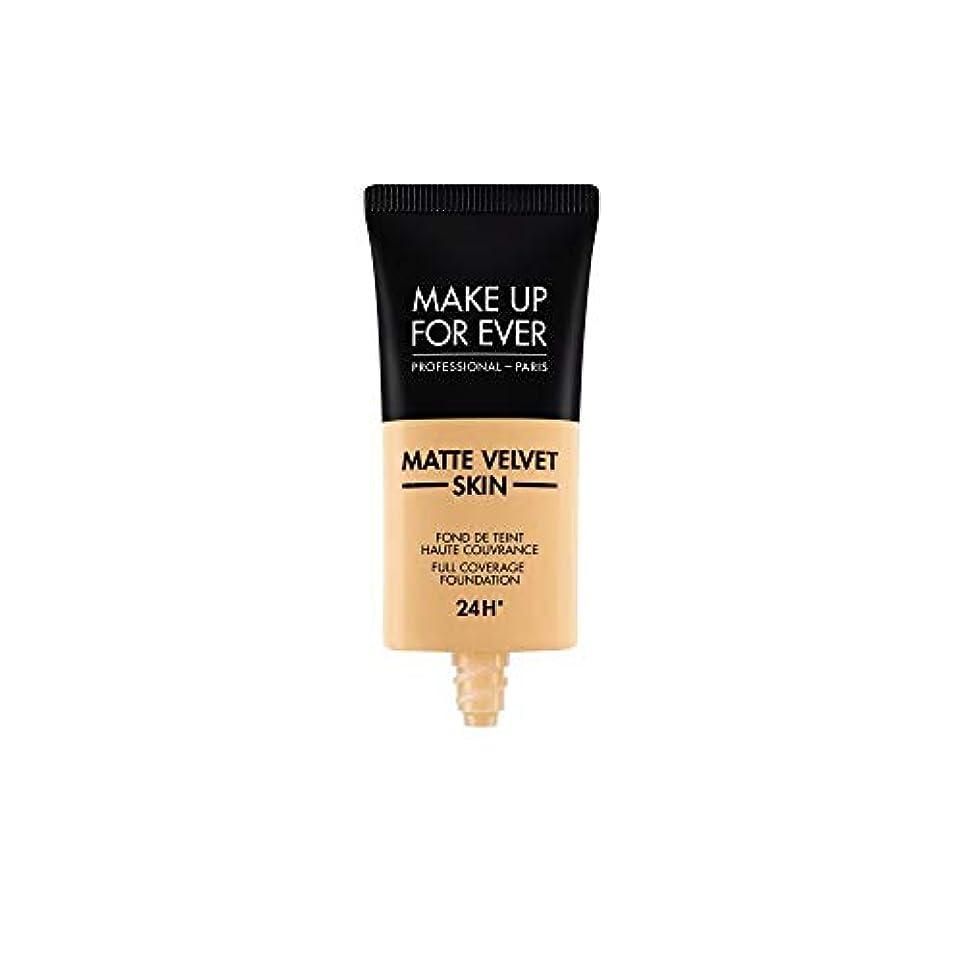 爆風すばらしいです容赦ないメイクアップフォーエバー Matte Velvet Skin Full Coverage Foundation - # Y245 (Soft Sand) 30ml/1oz並行輸入品