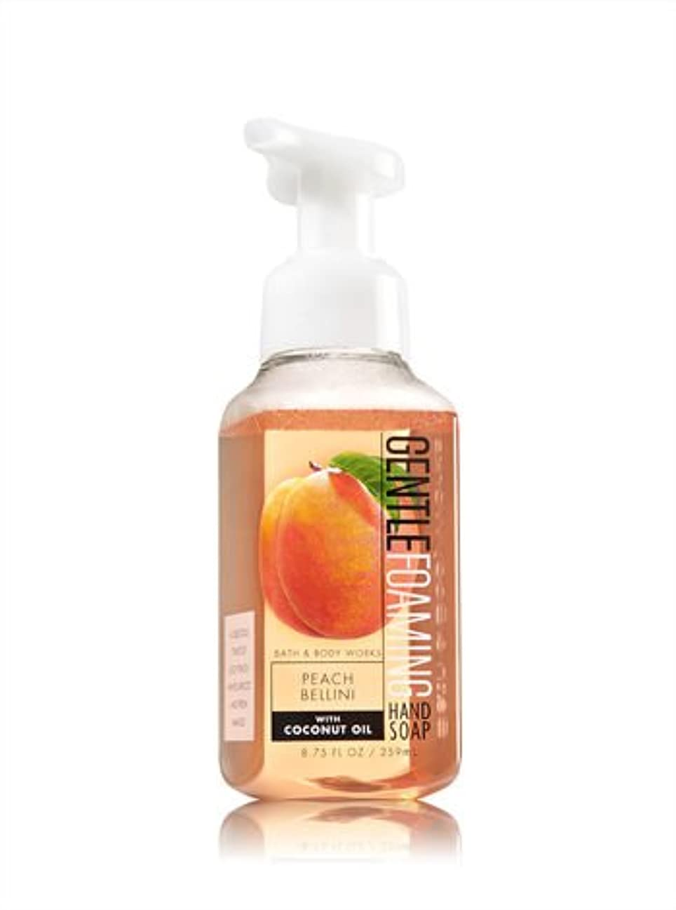 ディプロママイナス放射するバス&ボディワークス ピーチベリーニ ジェントル フォーミング ハンドソープ Peach Bellini Gentle Foaming Hand Soap [並行輸入品]