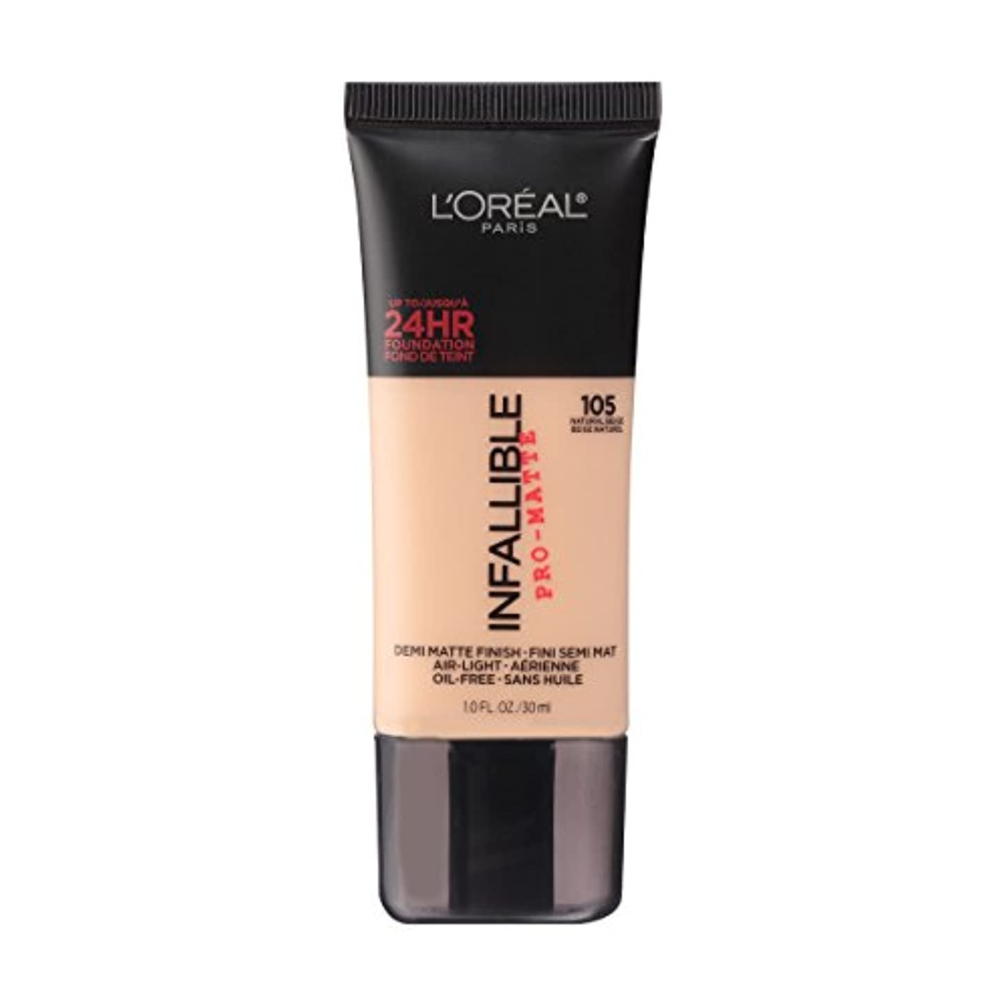 牽引トラブル警報(6 Pack) L'OREAL Infallible Pro-Matte Foundation - Natural Beige (並行輸入品)