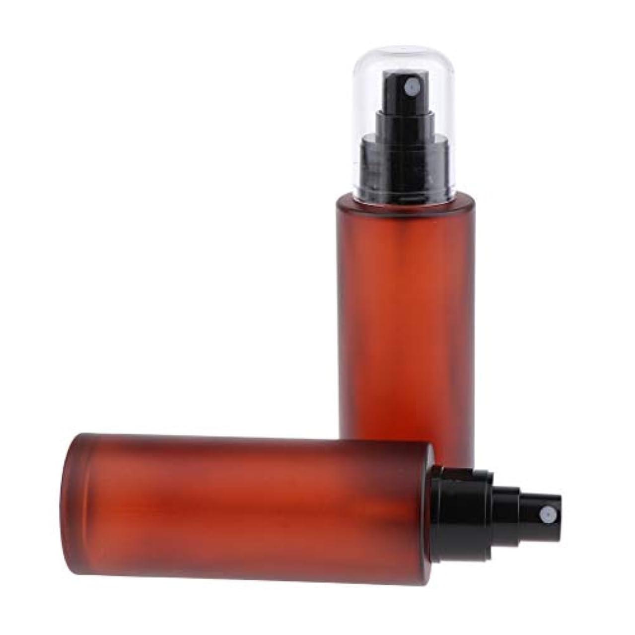 浸食無条件ロケーション2個 香水ボトル ポンプスプレーボトル ガラスアトマイザー 旅行小物 4サイズ選べ - 100ml