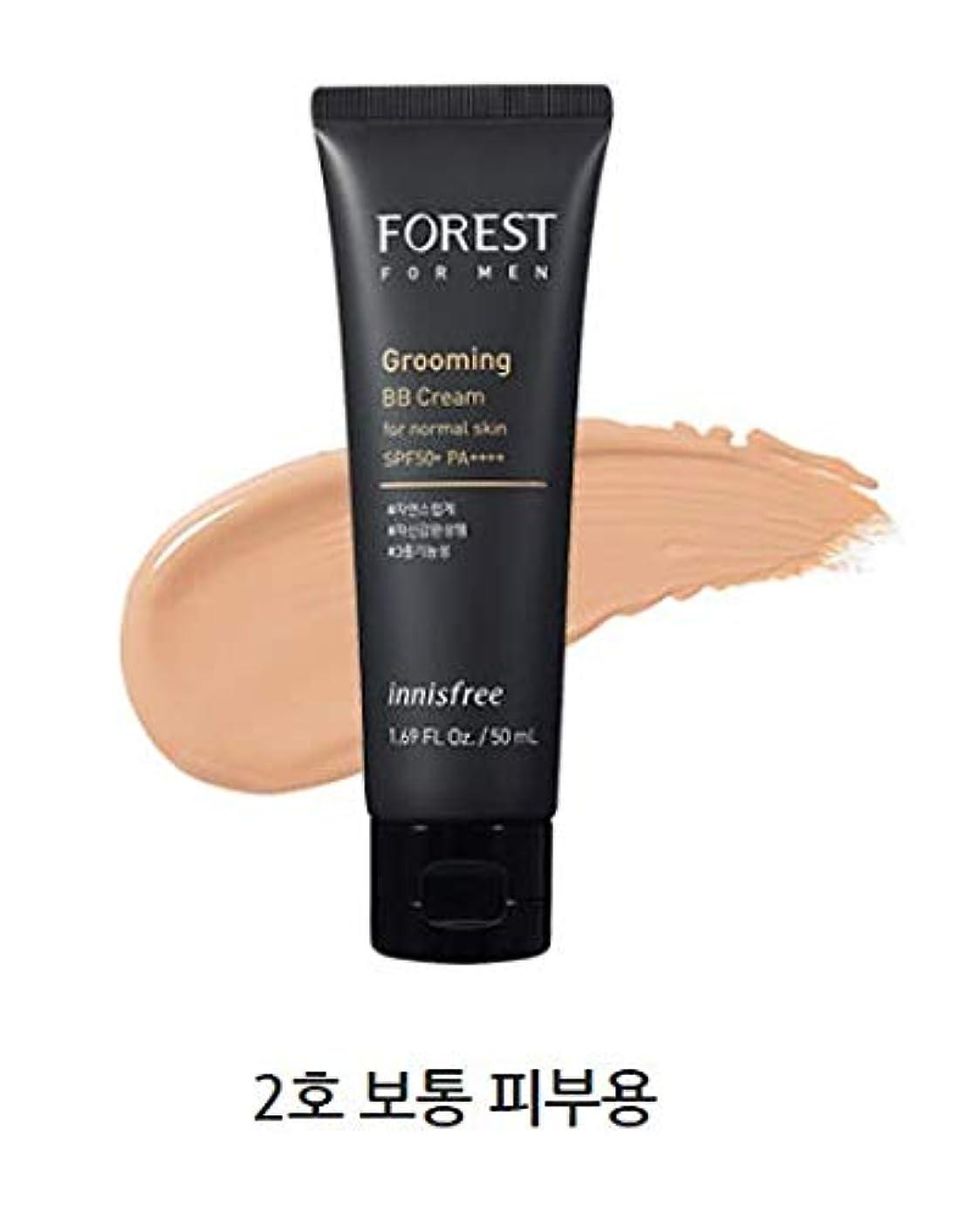 熟読縞模様の人差し指[イニスフリー.innisfree]フォレストフォアマングルーミングBBクリームSPF50+ PA++++50mL/ FOREST FOR MEN GROOMING BB CREAM SPF50+ PA++++ (#2 通常肌用)