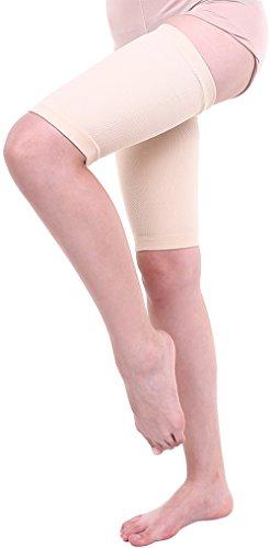 (マモーレ) Mamo-Re シルク と ゲルマ の 太もも 用 サポーター 女性鍼灸師が開発 太もも燃焼 むくみ セルライト 除去 婦人科系 に作用 両足セット(M、ホワイトベージュ)