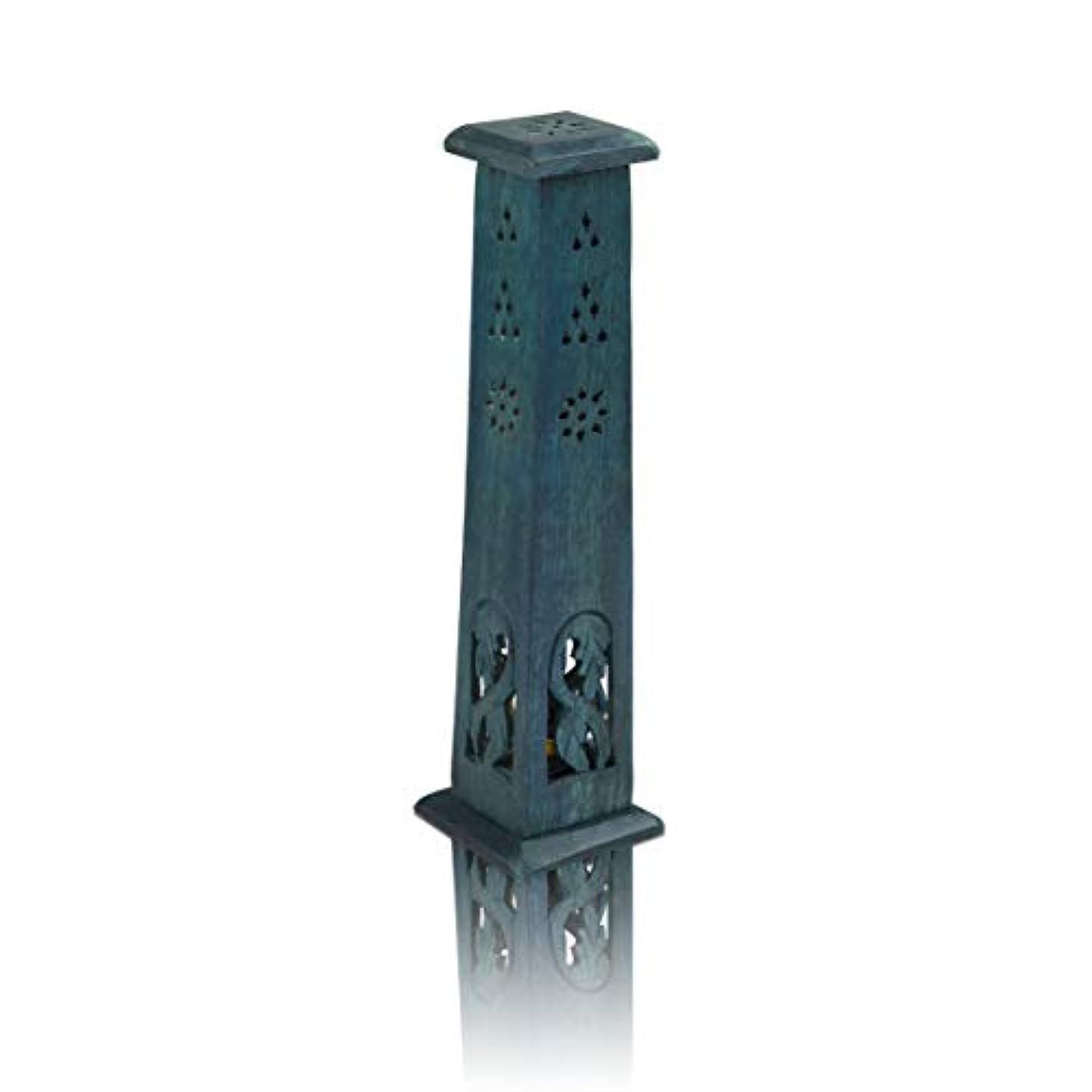 フィードバックペナルティアルネ木製お香スティック&コーンバーナーホルダー タワー ラージ オーガニック エコフレンドリー アッシュキャッチャー アガーバティホルダー 素朴なスタイル 手彫り 瞑想 ヨガ アロマセラピー ホームフレグランス製品