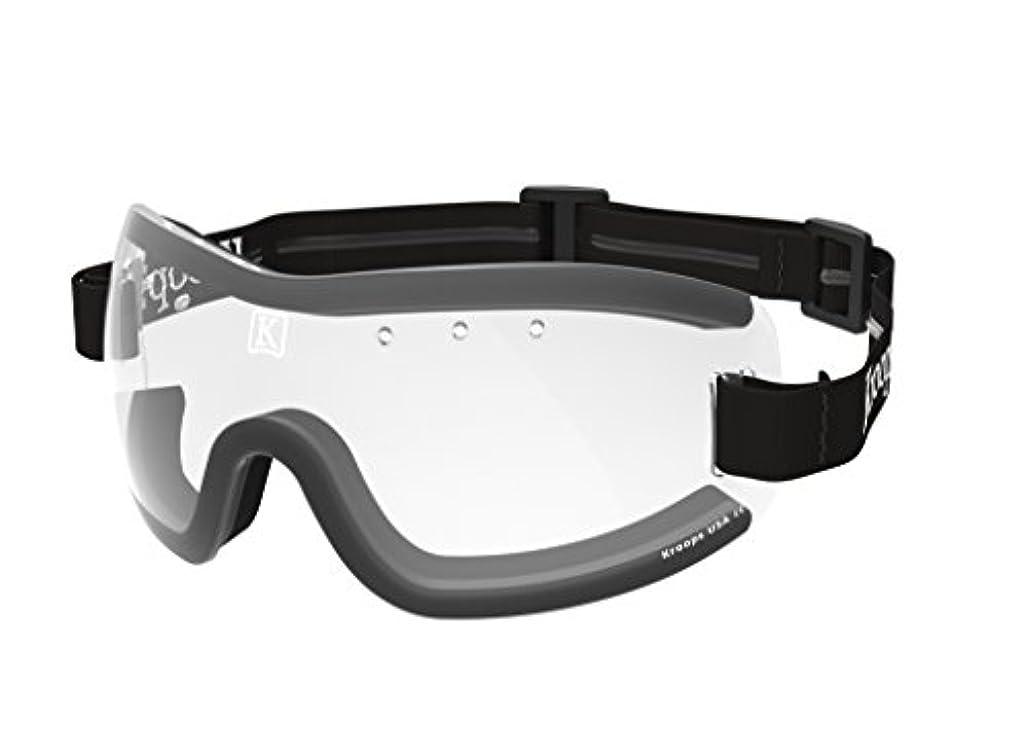 チャレンジヒットただやるKroopsブランド13-five Skydive Goggle by Kroops for Skydiving、モーターサイクル、スクーター、Bicycling。。。風、ほこり、汚れから保護。。。クリアレンズブラック調節可能、ノンスリップヘッドバンド