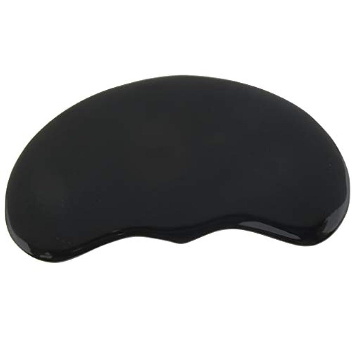 アートきらめく差別するSPAサロン マッサージ かっさプレート ツボ押し 顔/体用 ブラック