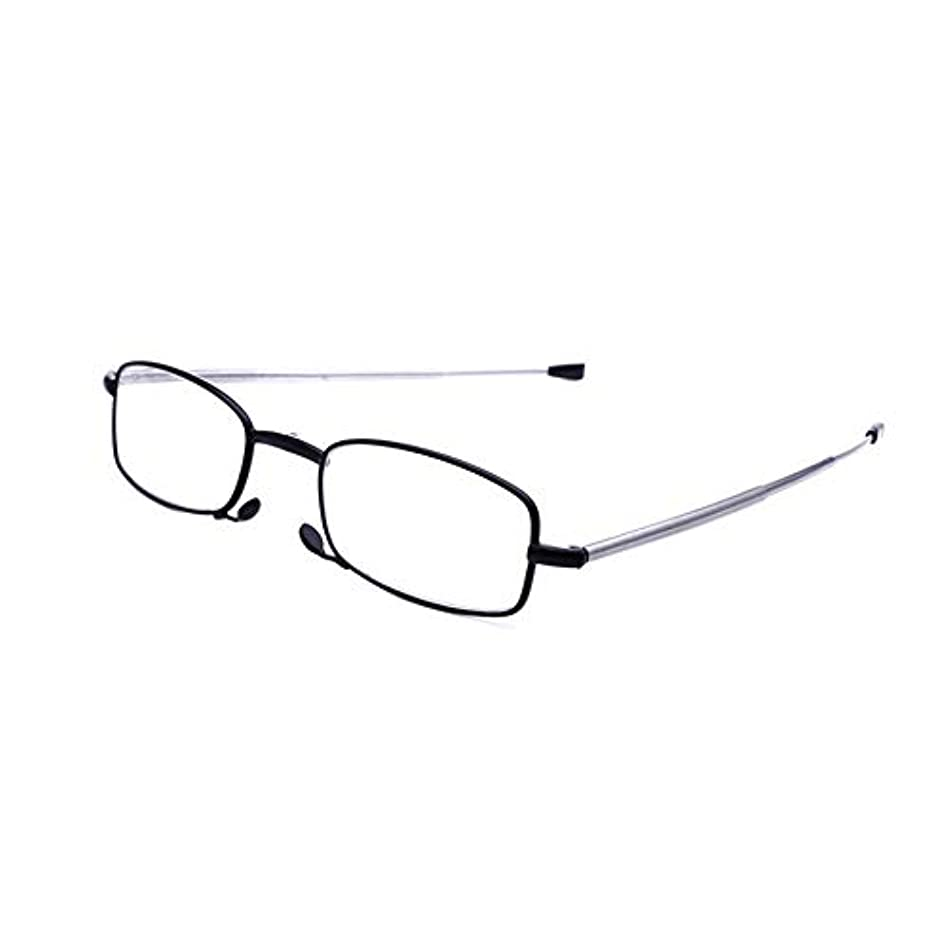 におなかがすいたプログラム老眼鏡/アンチブルーライトメガネ/スマートズームリーダー/目の疲れ防止、超軽量ミニ折りたたみユニセックスリーダー、読書用ケースを含む
