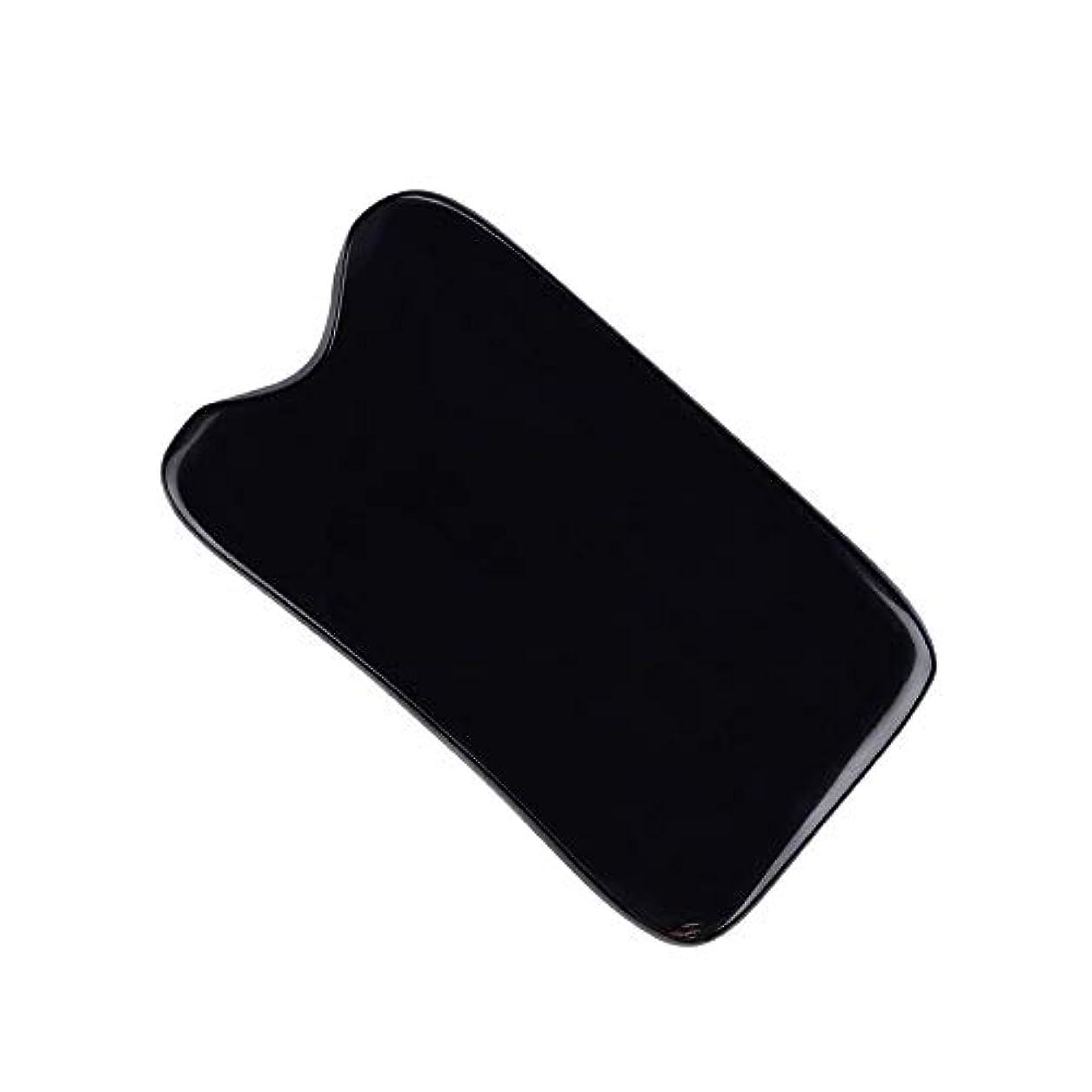 ゆりかご服を洗う研磨MUOBOFU 手作り カッサ?マッサージ?美容道具 多用スクレーパー 四角形?溝付く 牛の角製