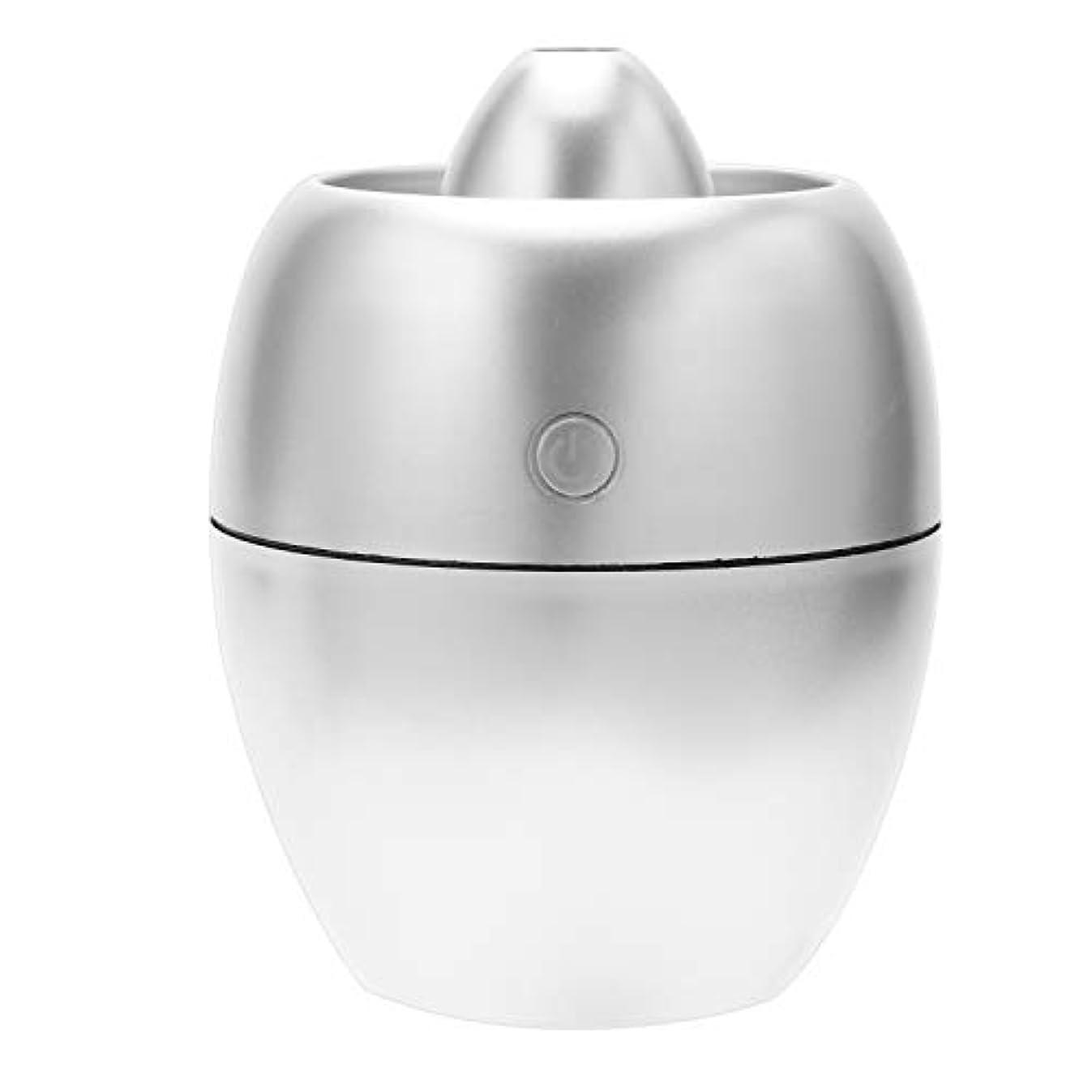 腹部医薬むしろNrpfell 260Ml 車の充電器空気加湿器、ミニ アロマのディフューザー エッセンシャルオイル アロマセラピー ポータブル ミスト機、銀色