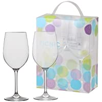 【アクリルワイングラス】ピクニック・アクリルワイングラス 2個セット(G08809)
