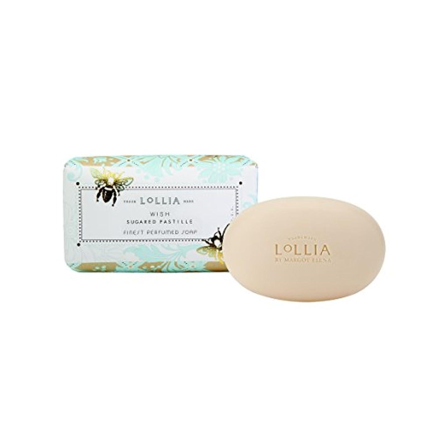 圧力刈るから聞くロリア(LoLLIA) フレグランスソープ140g Wish(化粧石けん 全身用洗浄料 ジャスミン、イランイラン、アンバー、ベルガモットの香り)
