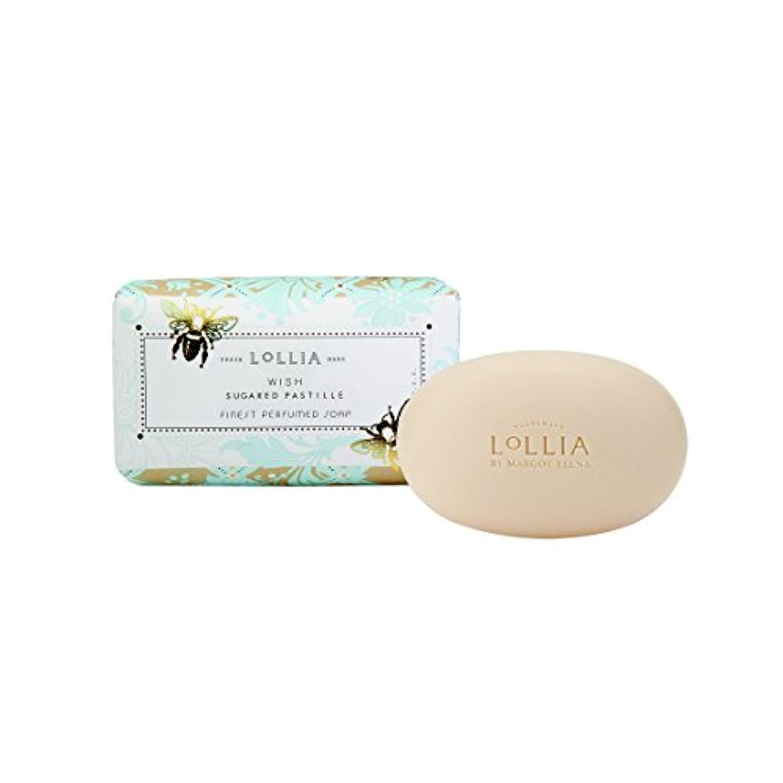 無視岩味ロリア(LoLLIA) フレグランスソープ140g Wish(化粧石けん 全身用洗浄料 ジャスミン、イランイラン、アンバー、ベルガモットの香り)