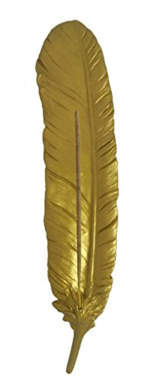 ロバ光沢のあるベーカリーフェザーアッシュCatchers & Cone Incense Burners ゴールド
