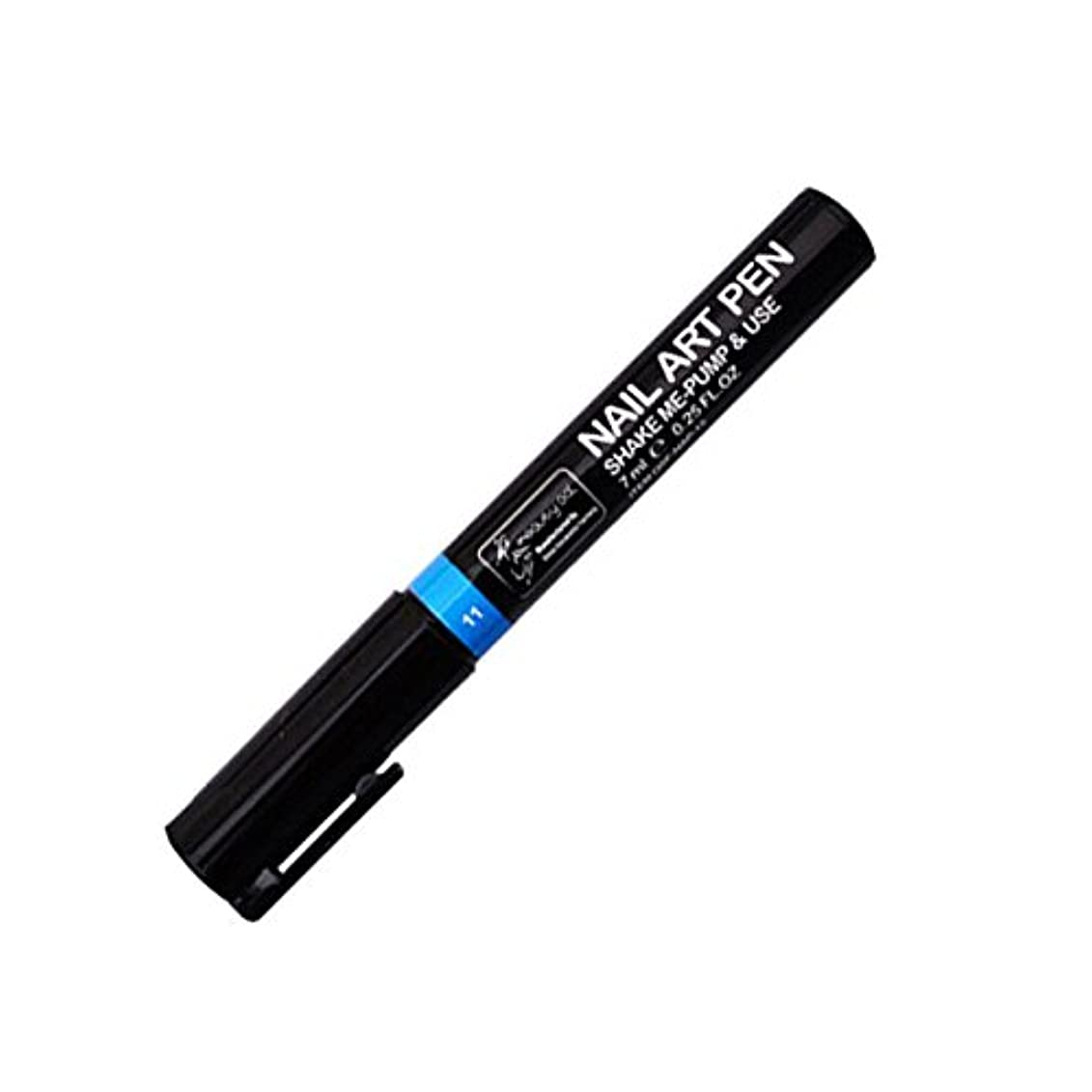蜜退化するレーダーMIRAIS ネイルアートペン 全16色 セルフネイル フレンチ マニキュア ペン 3Dネイル ペイント メイク 美容用品 (11.スカイブルー) MR-NAILPEN-11