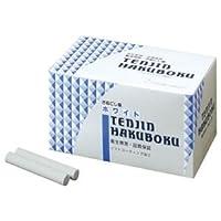 (まとめ) 日本白墨 天神印チョーク(石膏カルシウム製) 白 CH-1 1箱(100本) 〔×5セット〕