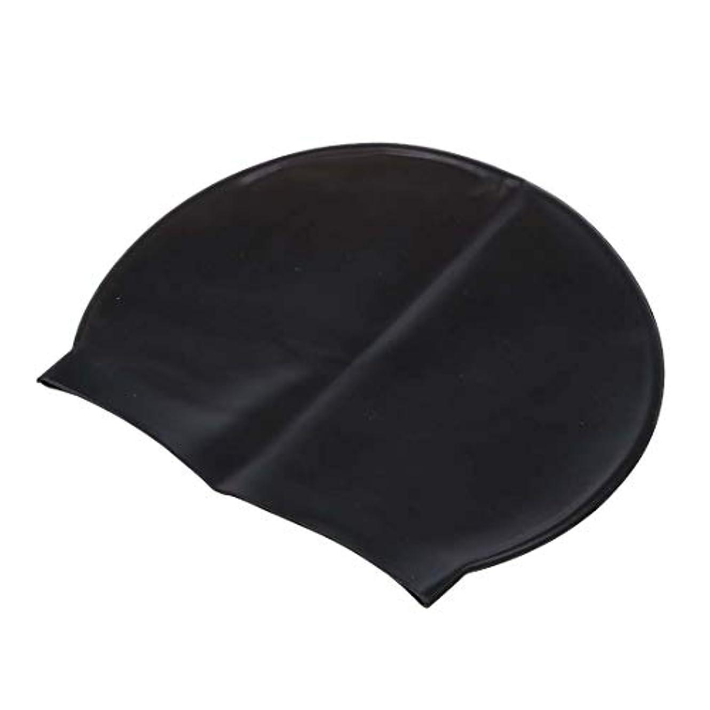 つなぐ晩ごはんデジタルHAYQ ブラック耐久性に優れたスタイリッシュなスポーティラテックス水泳キャップハット