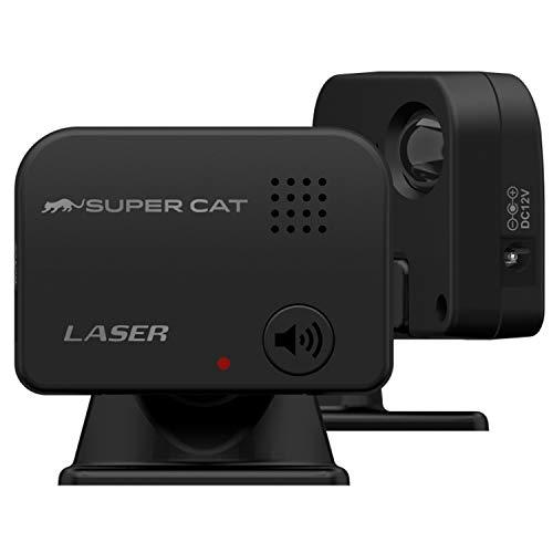 ユピテル レーザー探知機 LS10 日本製 3年保証 エスフェリックレンズ搭載 LED警告 ボイス警報 宙吊り取付ステー付属 電源分岐ケーブル付属 Yupiteru