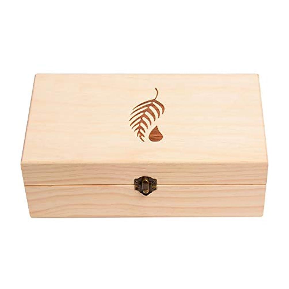 検出可能受け皿平和なエッセンシャルオイル収納ボックス 25のスロット木エッセンシャルオイルボックスケースオーガナイザーパーフェクトエッセンシャルオイルケース (色 : Natural, サイズ : 27.5X15X10CM)