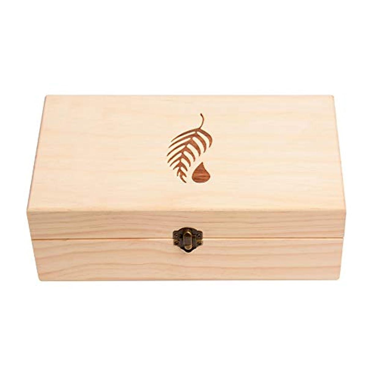 なぜならパンフレット抹消25スロット木エッセンシャルオイルボックスケースオーガナイザーパーフェクトエッセンシャルオイルケース アロマセラピー製品 (色 : Natural, サイズ : 27.5X15X10CM)
