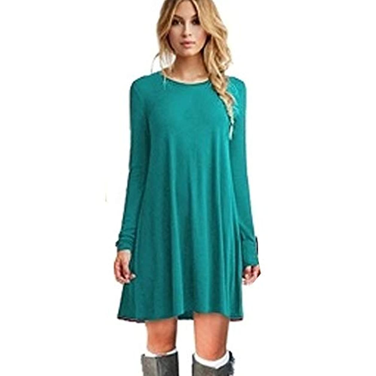 報いるくしゃみ好戦的なMIFANルースドレス、プラスサイズのドレス、長袖のドレス、女性のドレス、秋のドレス、マキシドレス、コットンドレス