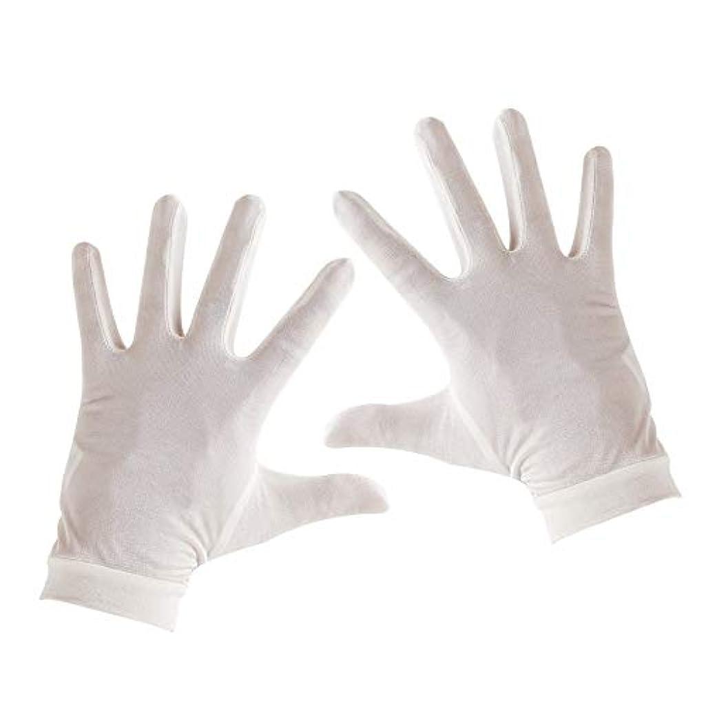 イノセンスオーバーヘッドジムTenn Well シルク手袋, 天然絹100% 手荒れ対策 保湿ケア UVカット おやすみ手袋 (白い)