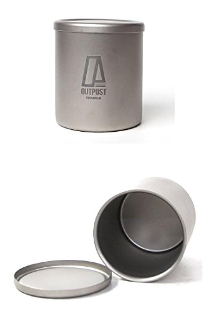 フォアマンうめき壊滅的なキャンプ食器 チタン ダブルウォール マグカップ 蓋付き Outpost Titanium [DC030] SLIM D.W TI MUG/LID