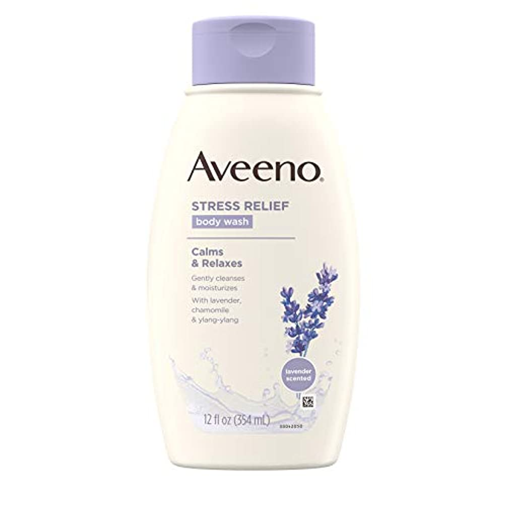 月ペーストタクシーAveeno Stress Relief Body Wash 12 fl oz by Aveeno
