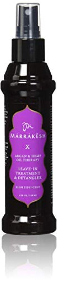 戦うなにもちろんMARRAKESH マラケシュマラケシュX満潮リーブイントリートメントとDetangler麻とアルガンオイルと、4オンス 4オンス。