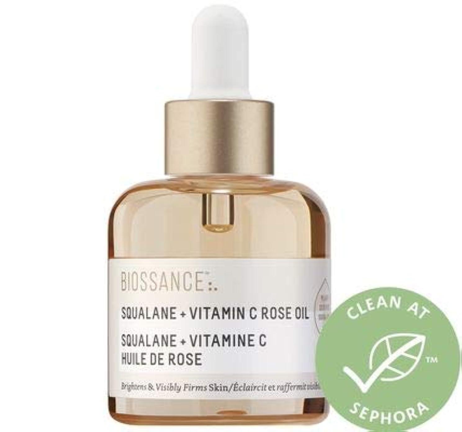 文芸地域論争の的ビオッサンス BIOSSANCE Limited Edition Squalane + Vitamin C Rose Oil 美容液 ローズ オイル スクワラン