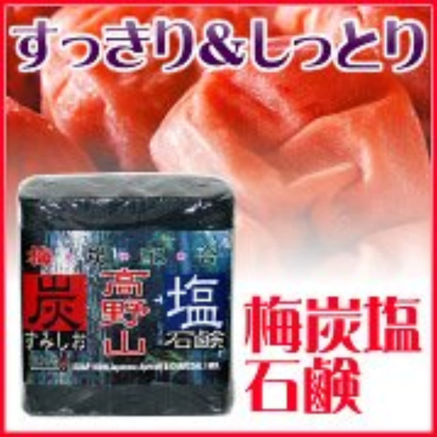 ながら伝統的好色な★10個セット★梅炭塩石鹸85g(泡立てネットつき)