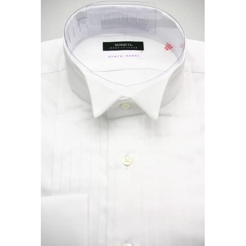 SCHIATTI(スキャッティ)白無地 ウイングカラー ピンタック(細身)ドレスシャツ ot2965-3882