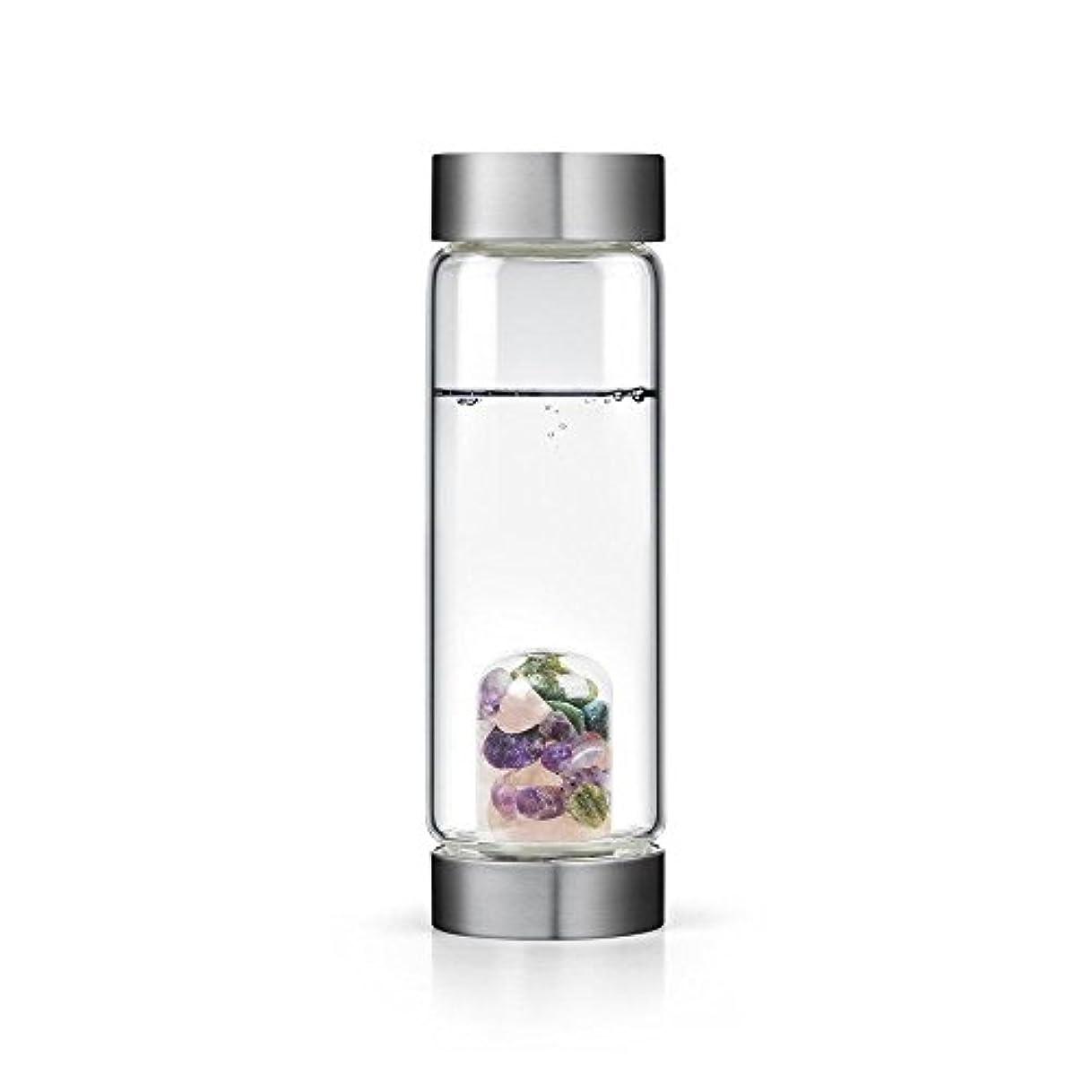 平和な巻き取り鋭くBeauty gem-waterボトルby VitaJuwel W / Freeカリフォルニアホワイトセージバンドル 16.9 fl oz
